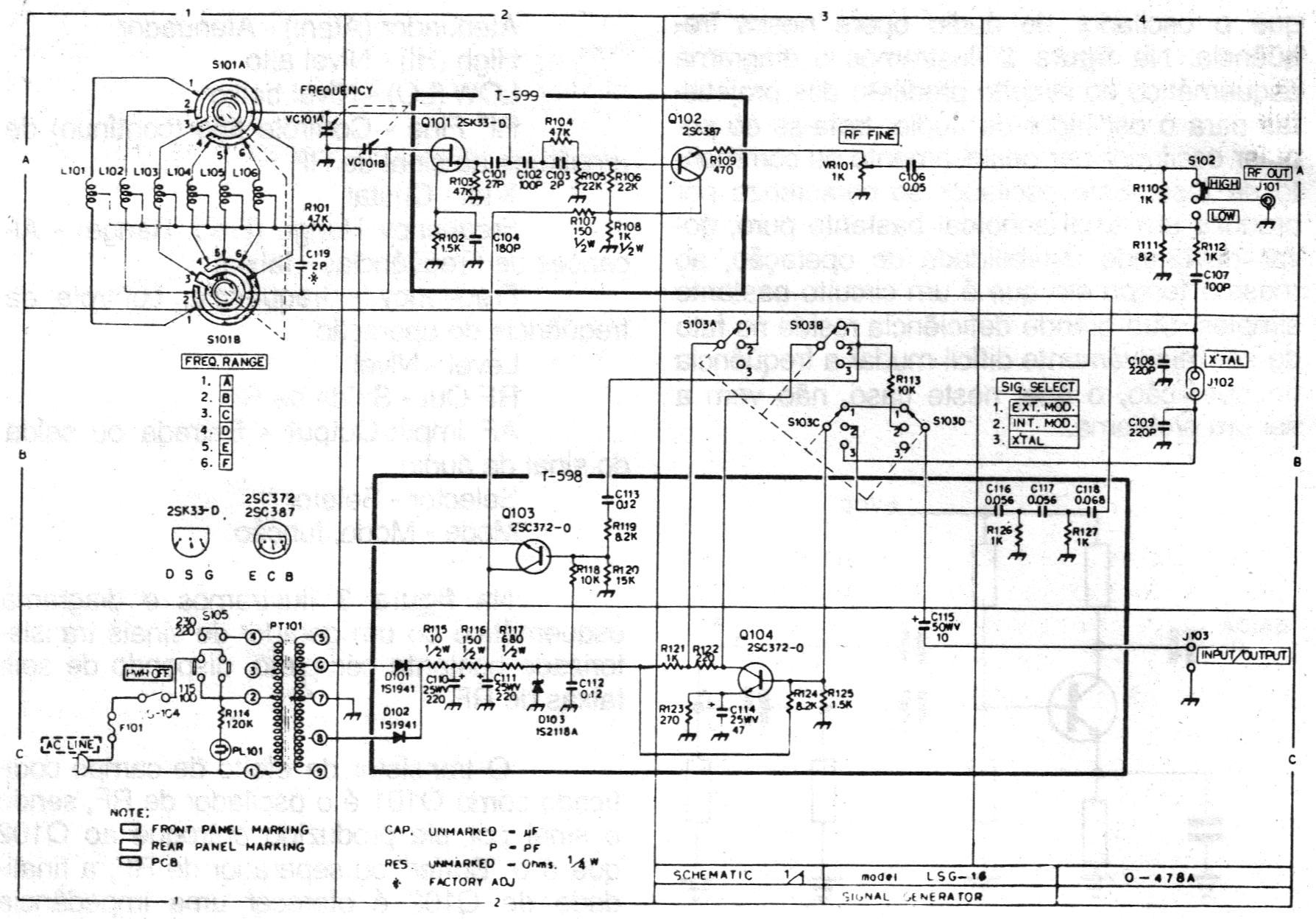 Rf Signal Generator Circuit : Service manual leader lsg g rf generator