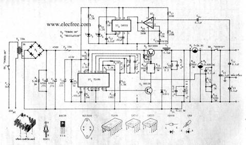 Service manual : circuit-power-supply-regulator-switching
