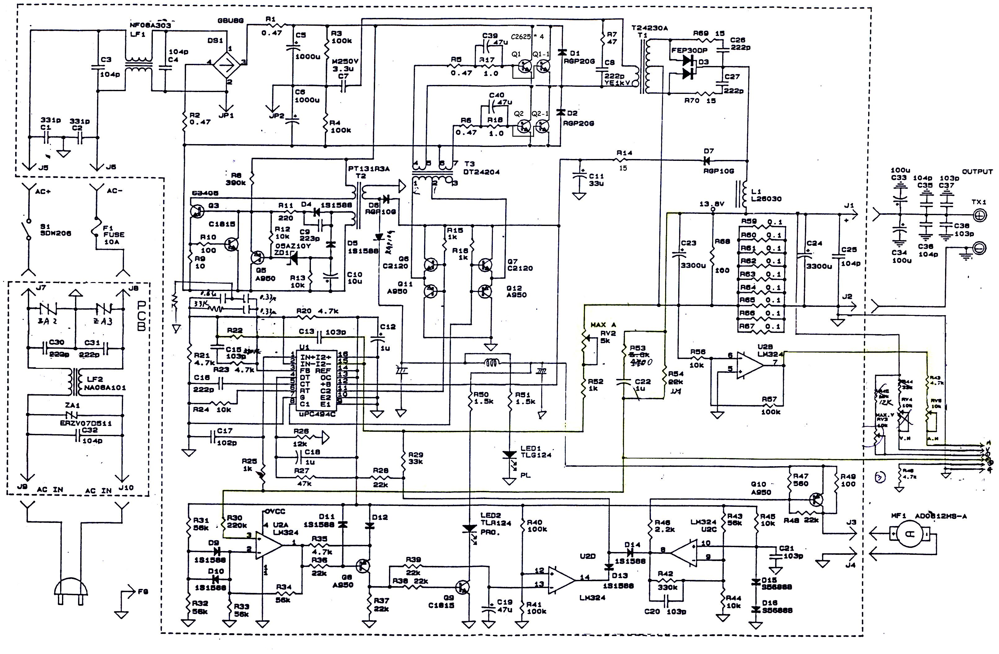 Sharp Power Supply Schematic Wiring Diagram, Sharp, Free